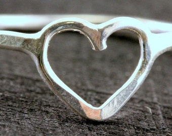 Heart Ring hand made sterling silver.