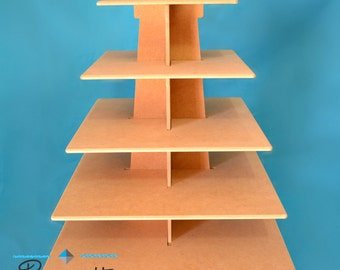 Cupcake stand, made of wood (mdf) perfect for parties or house, good capacity. easy handling