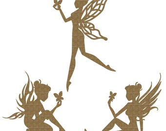 Fairy Trio Large Set Laser Cut Chipboard FREE SHIPPING! in US