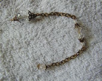 pendulum, quartz crystal, ant. brass, for, divination