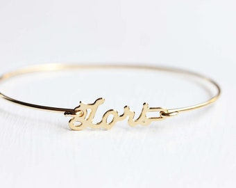 Lori Name Bracelet, Lori Bracelet, Lori, Name Bracelet, Hook Bracelet, Gold Name Bracelet, Cuff Bracelet, Name Cuff, Wire Bracelet, Bracelet