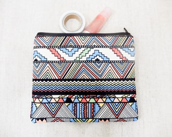 Make Up Bag/ Boho Gift for Her/ Gift for Mom/ Best Friend Gift/ Girlfriend Gift/ Pencil Case/ Pouch/ Teacher Gifts/ Graduation Gift/