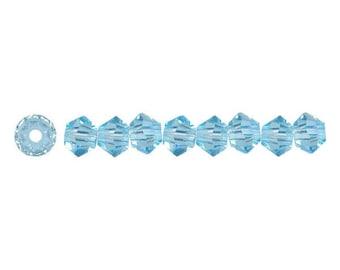 Swaovski Bicone bead 5328 aqumarine blue 3mm - Quantity of 60 beads