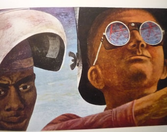 Vintage - Ben Shahn, The Welders 1943 - American realism - for art lovers - color plate museum of modern art