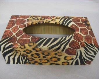 Animal Skin Tissue Box Cover