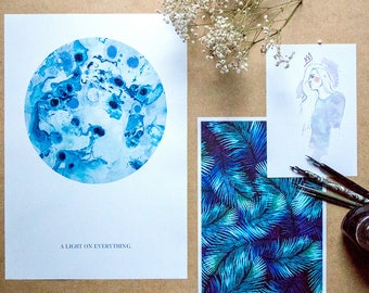 Poster | Artprint | Gift Set Blue Mood