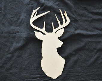 Deer Cut Out laser cut for Decoupage, DYI, Home Decor, Hunters, Unfinished, Sign Making, Crafting by LiahonaLaser on Etsy