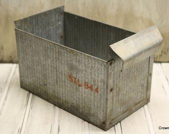 Industrial Metal Bin - Container - Storage - Farmhouse Decor