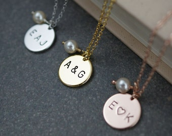 Personalized Necklace Initial Necklace Dainty charm necklace Bridesmaid Gifts Valentine gift for her Personalized jewelry monogram jewelry