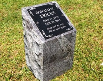 Personal cremation memorial- includes engraving, 168 lbs granite 7 colors to choose from