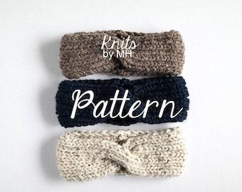 Knit Headband Pattern // Headband Knitting Pattern // Chunky Headband Pattern