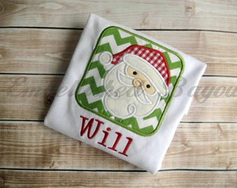 Santa Personalized Applique T-shirt or Onesie, Boy or Girl