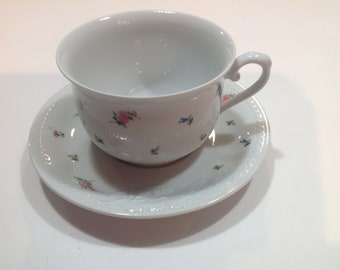 Seltmann Weiden Cup and Saucer with small Floral Pattern