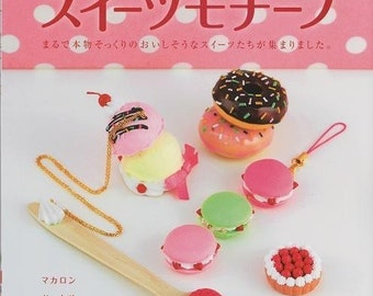 Out of Print / CLAY SWEETS MOTIFS Book - Japanese Craft Book