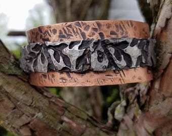 Black Leaf Bracelet Cuff