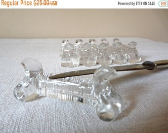 50% DISCOUNT 6 French Vintage Glass Knife Rest