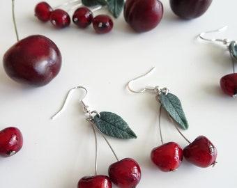 Cherry fruits earrings cherry earrings