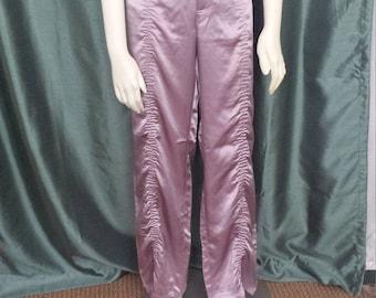 Laundry Designer Pants/Size 12 Silk Pants/Women Designer Pants/Silk Pants/Size L Silk Pants/Dusty Rose Pants/New Old Stock Pants/No.314