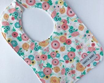 Baby Girl Bib - Riley Bib - Baby Bib - Baby Gift -  Gift for Baby - Blush Pink Bib - Bib - Sarita Baby