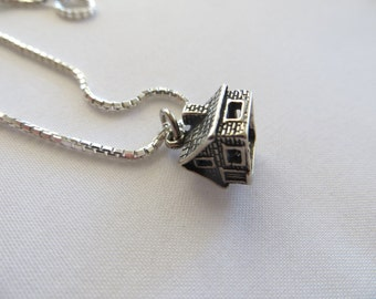 Log Cabin Charm-Sterling Silver Charms