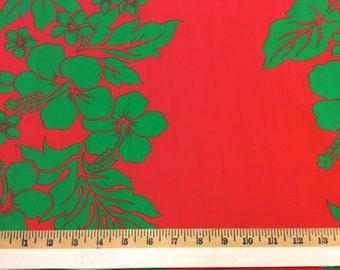 Hawaiian Print Fabric Poly-Cotton (Yardage Available)