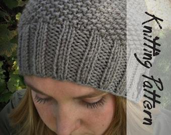 KNITTING HAT PATTERN: Fall For It Hat Pattern, Hat Knitting Pattern, Slouchy Beanie Hat Pattern