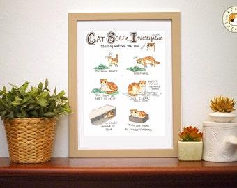 CSI Cat Scene Investigation: Funny Cat Poster