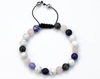 Womens Bracelet *White Blues*