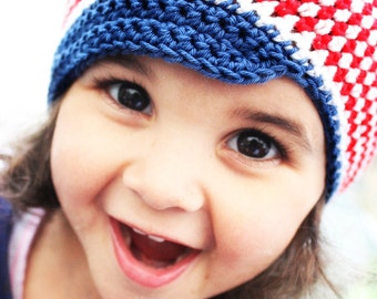 12 to 24m Toddler Newsboy Hat Blue Cotton Baby Hat Stripe Toddler Hat Baby Cotton Hat Red White Blue Baby Newsboy Cap Photo Prop  Baby Gift