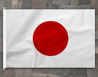 100% Cotton, Stitched Design, Flag of Japan, Made in USA