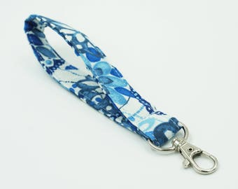 Blue Key Wristlet, Women's Key Fob