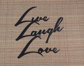 Live Love Laugh Metal Wall Hanging