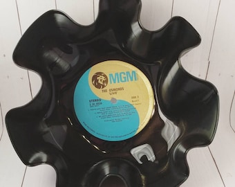 Vinyl Record Bowl, Record Bowl, Vinyl Bowl, Vinyl Record, Snack Bowl, Candy Bowl, Centerpiece, Music Gift, The Osmonds