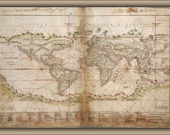 Poster, Many Sizes Available; Map Of The World 1630