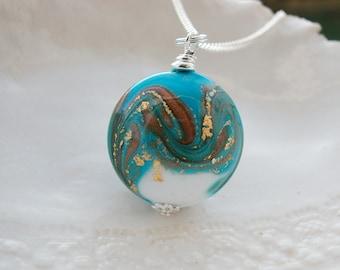 Murano Glass Blue Fenicio Necklace