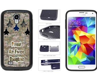 Proud Air Force Daughter Camo Letters Back - IPhone 4 5 6 7 8 X Plus