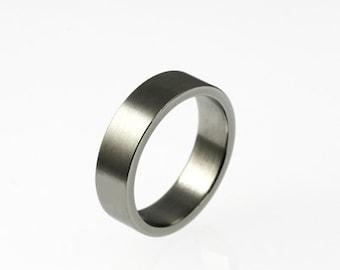 White gold wedding band, wide ring, mens wedding band, men white gold ring, matte finish ring, contemporary, simple, men modern ring, custom