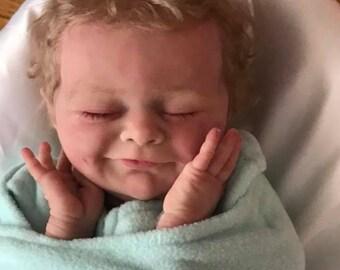 Cutom Made Beautiful 18 inch Newborn size/ Closed Eyes CLOTH BODY SILICONE baby boy or girl!!!!