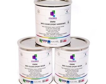 Clear Epoxy Resin 100% solids High Gloss Non-water based