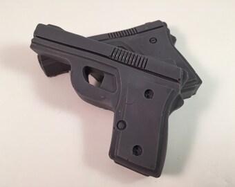 Gun Soap / Revolver Soap / Tactical Soap / Military Soap / 2 oz of Soap / Goat Milk Soap / Party Favor / Set of 2