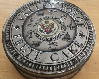 Valley Forge fruit cake tin-commemorative