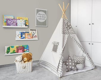 Tipi Set - Kids Play Tent Teepee - Morning Frost