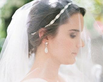 Rhinestone Headband, Grecian Headpiece, Wedding Hair Accessory, Crystal Headband