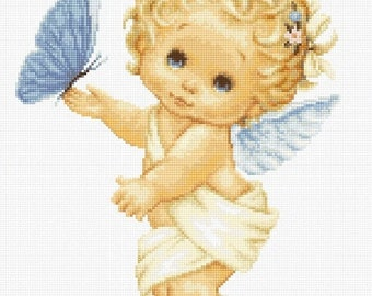 Angel and Butterfly SB368 - Cross Stitch Kit by Luca-s