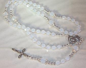 Swarovski Crystal Rosary - Catholic, Anglican, Jewish - Made to Order - Any Crystal Color - Choose Medal and Cross