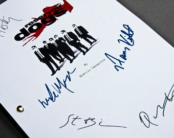 Reservoir Dogs Film Movie Script with Signatures / Autographs Reprint Tarantino Unique Gift  Screenplay Present TV Fan Geek