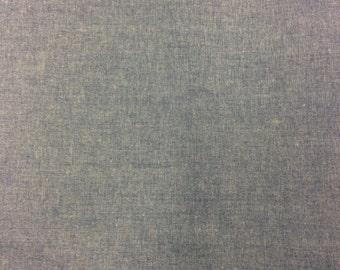 100% Cotton Chambray Fabric -1 Yard- Cotton Fabric / Fabric by Yard / New Fabric / Chambray by Yard / Chambray Yardage / Garment