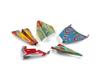 50 Airplane Food Origami Paper Placemats - 5 designs