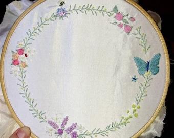 Floral Wedding Embroidery Hoop Art