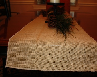 Burlap Table Runner, Burlap Table Runner,  Table Runner,